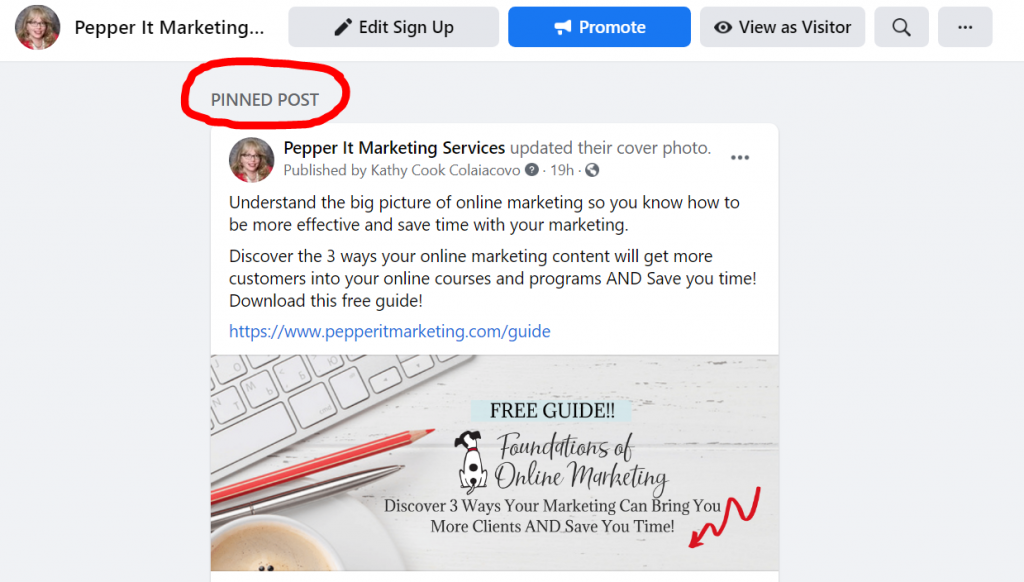 How to Pin a Post on your Facebook Page
