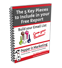 Creating your free report for email list building