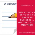 Staying Productive: The Magic of Checklists