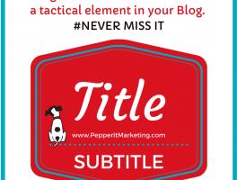 never miss blog element