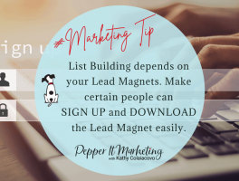 List building depends on your Lead Magnets. Make certain people can sign up and download the lead magnet easily.