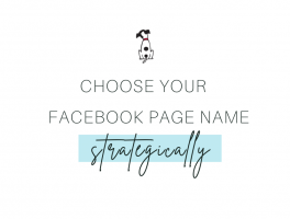 how to choose a facebook page name