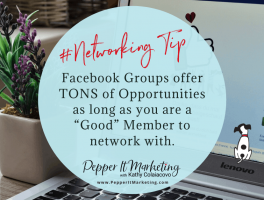 Pepper It Marketing Facebook Group Networking Tip