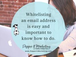 Pepper It Marketing Whitelisting email