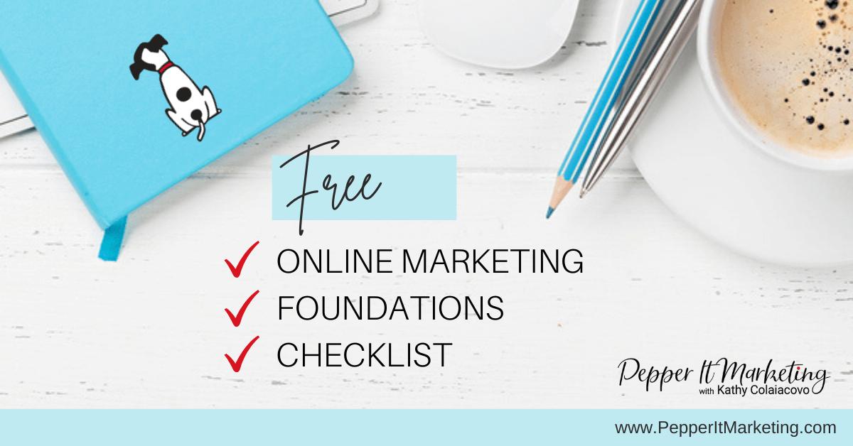 Pepper It Marketing Free marketing foundations checklist