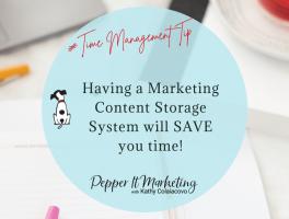 marketing content storage