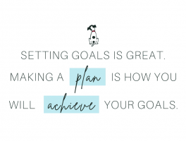setting goals is great. making a plan is how you will achieve your goals.