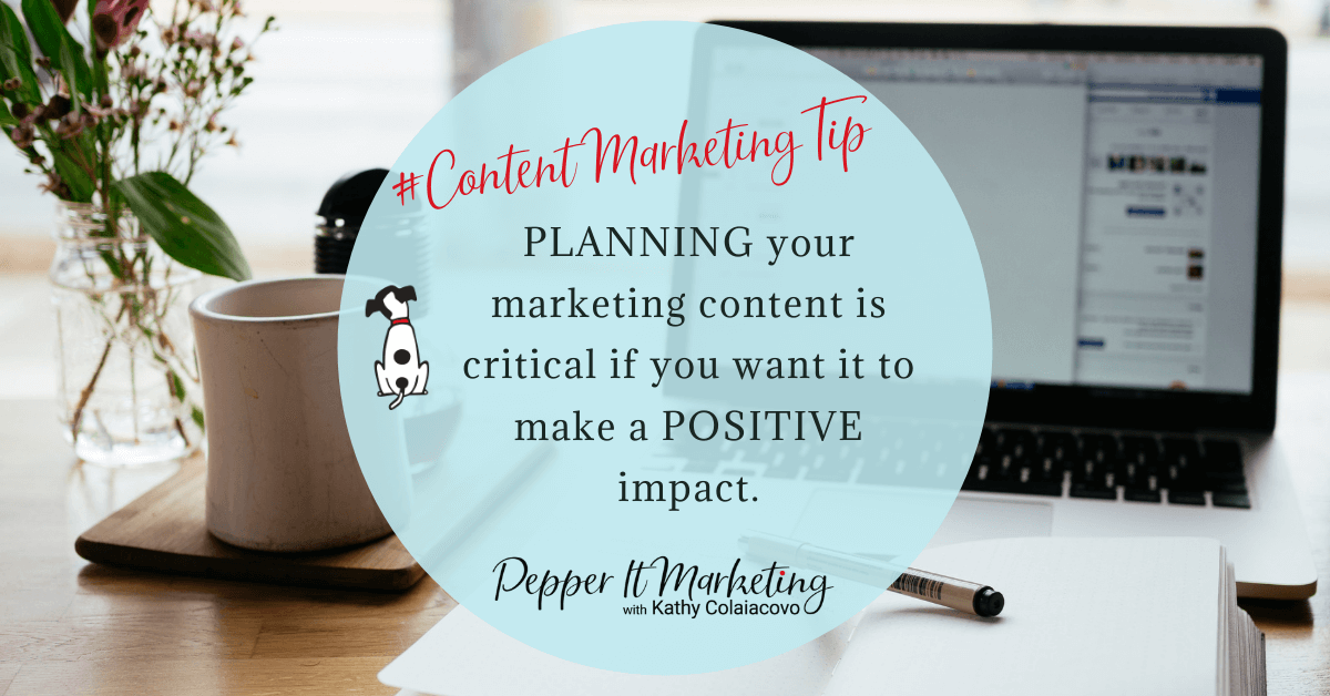 #contentmarketingtip Planning your marketing content is critical if you want it to make a positive impact.
