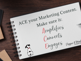 ACE your marketing content. Make sure it Amplifies, Converts, Engages.