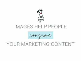 Images help people consume your marketing content