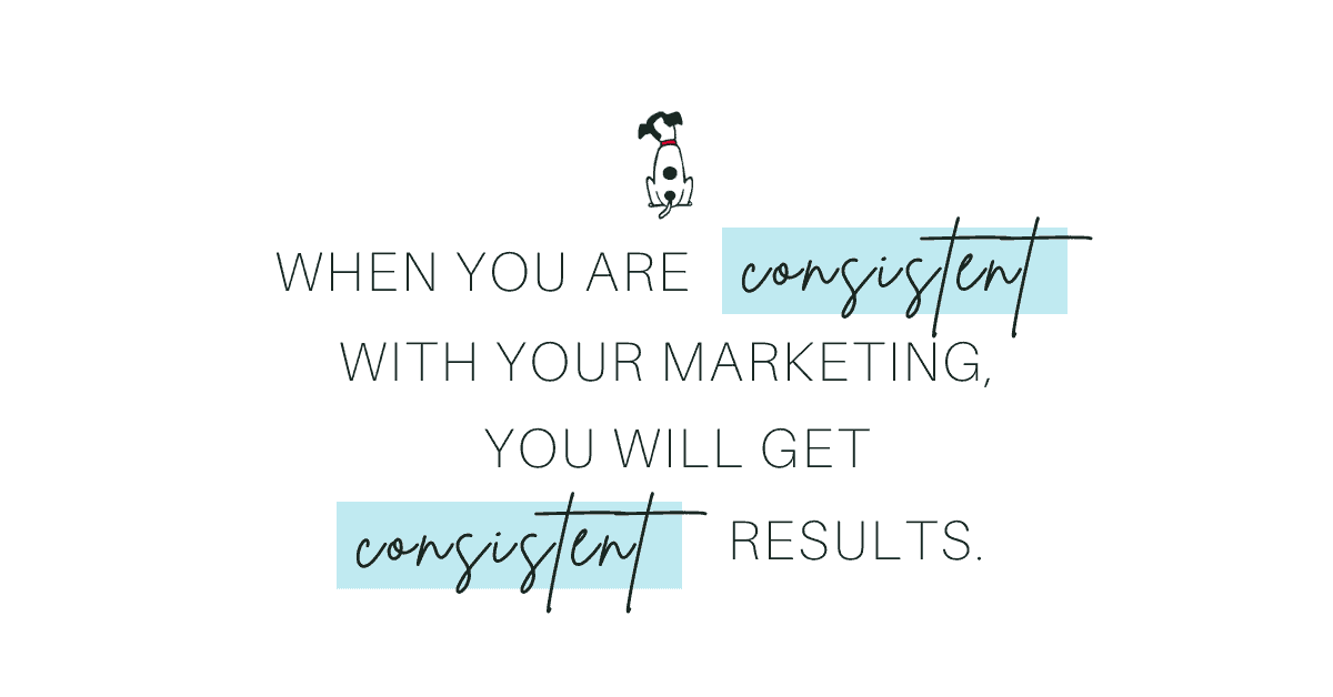 when you are consistent with scheduling your social media online marketing, you will get consistent results