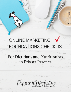 Online Marketing Foundations Checklist for dietitians