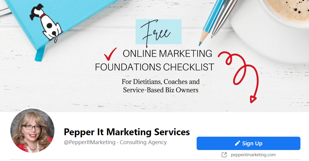 Pepper It Marketing facebook page cover image
