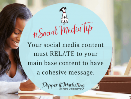 #socialmediatip Plan your marketing content so yur social media content must relate to your main base content to have a cohesive message.