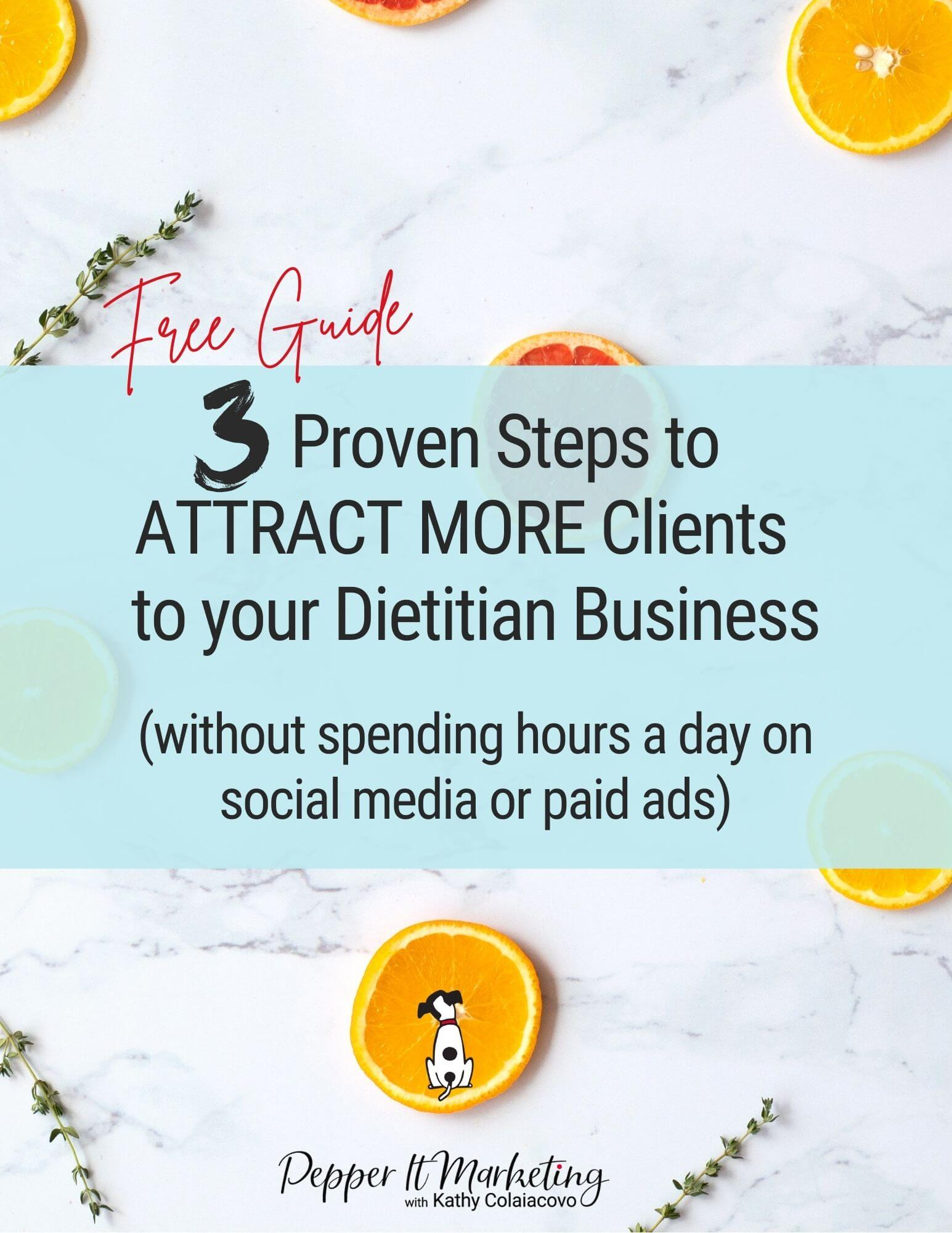 marketing guide for dietitians 21-a