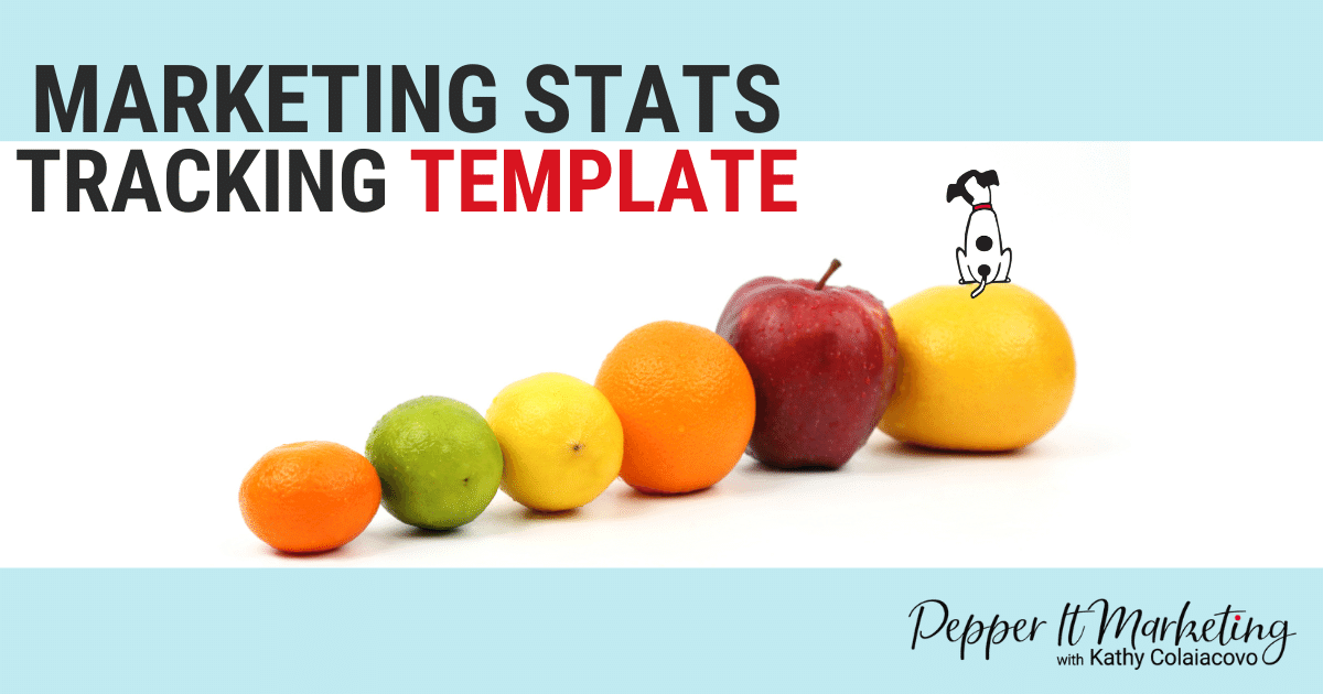 marketing stats tracking template for dietitians