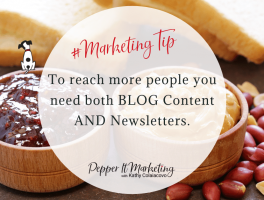 #MarketingTip To reach more people you need both blog content and newsletters.