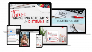 Thrive marketing academy for dietitians 2021