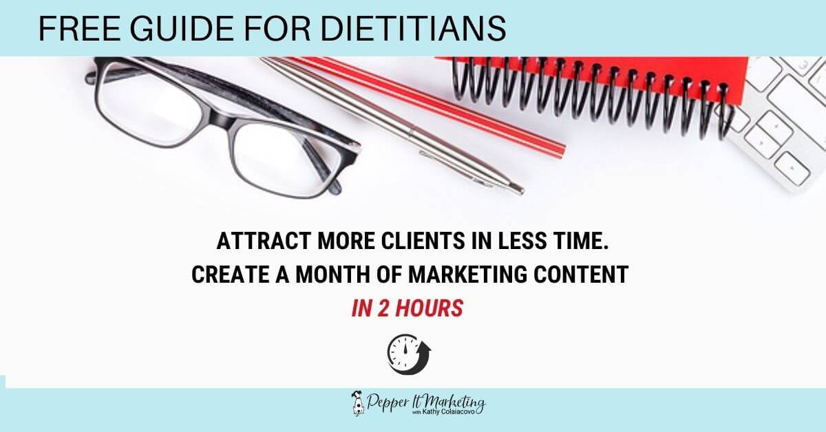 free marketing guide for dietitians